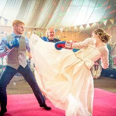 One of the best weddings we've held at the farm was when Jake and Lana did a #karatefight as their first dance - completely unique quirky fun and magical - just how a wedding should be ... the moment captured perfectly by @creativecamerap