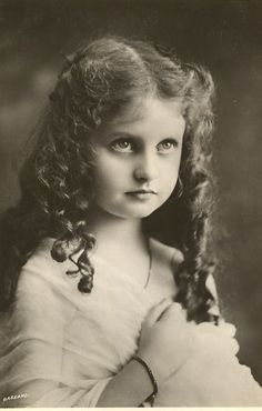 Young girl with long curls