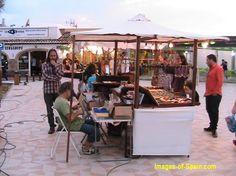 Arenal street market in Javea