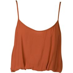 Nookie Sahara Cami ($30) ❤ liked on Polyvore featuring tops, shirts, tanks, tank tops, terracotta, brown camisole, cami shirt, summer shirts, brown tops and brown tank top