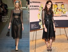 Katie Holmes In Dolce & Gabanna – The New York Observer 25th Anniversary Party