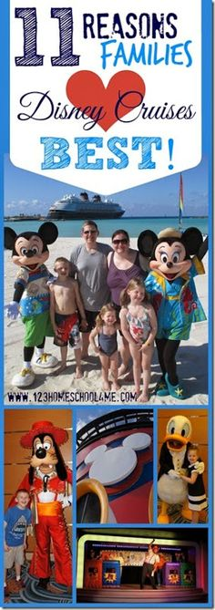 123 Homeschool 4 Me: 11 Reasons Families LOVE Disney Cruises Best