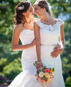 Wedding dresses, Trash The Dress, plus size, bridal underwear, boudoir… Lgbt Wedding, Wedding Poses, Wedding Dresses, Lesbian Wedding Photos, Wedding Attire, Lesbian Love, Cute Lesbian Couples, What A Nice Day, Two Brides