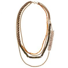 Beaded Chain Multilayered Necklace - Necklaces - Jewelry | 30PonteV.com