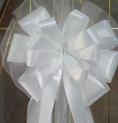 Bows For Church Pews Wedding How To Make Google Search Pew Pinterest Bröllop Rosetter Och Sök