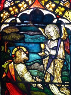 https://flic.kr/p/KNjwcH | Dewsbury Minster | Minster Church of All Saints, Dewsbury, West Yorkshire. East Window.  1884. By Mayer & Co, Munich & London.   The Crucifixtion, Christ's family, New Testament scenes, Paulinus with York Minster, Saints Andrew, George, Catherine and Augustine of Canterbury.  Detail: Gethsemane.  The firm of Josef Gabriel Mayer (1808-1893) of Munich opened a glass painting department in 1863. They were soon importing to the British Isles, opening a London o...
