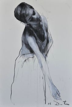 """""""Emma 7"""" by Mark Demsteader. As part of a series he did with Emma Watson for a charity event. Pastel and collage."""