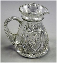 antique cut glass, crystal | Good Vintage Stuart Crystal Cut Glass Vinegar or Oil Jug With Cover ...