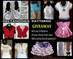 Don't wait! Enter now! The giveaway is open worldwide; ends April 12, 2016, at 12:15am Central European Time.  - See more at: http://www.myhobbyiscrochet.com/2016/04/hectanooga-pattern-giveaway-on-my-hobby.html#sthash.Vfwed3ke.dpuf