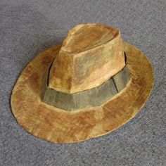 How to make a fedora (cardboard and paper mache!) paper hat directions instructions