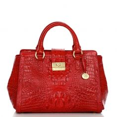 Brahmin Annabelle Satchel in party red -oh yes indeed!