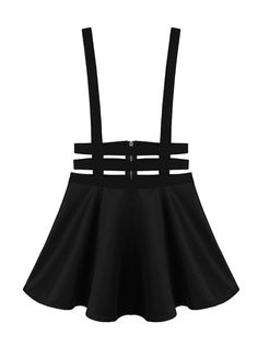 $11.00 Punk Style High Waisted Solid Color A-Line Design Braces For Women