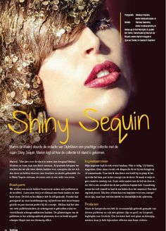 Shiney Sequin series published in StyleVision Magazine last issue 2014