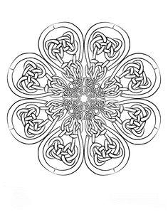 irish mandala coloring pages