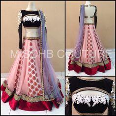 Blush Crush, lehenga by MischB Couture Indian Wedding Outfits, Bridal Outfits, Indian Outfits, Indian Clothes, Indian Attire, Indian Wear, India Fashion, Asian Fashion, Pakistani Dresses