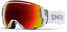 NEW Smith I/O7 Snowboard Ski Goggles White Red Sol-X  & Blue Sensor Mirror Lens #SmithOptics