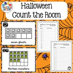 This activity includes 20 different count the room flashcards. All images and vocabulary are linked to the theme of Halloween.This come with 2 levels of difficulty. Students can either use flashcards 1-10 or 1-20, depending upon which you think is most suitable to your students.There are 2 different recording sheets to accommodate the 2 different levels.