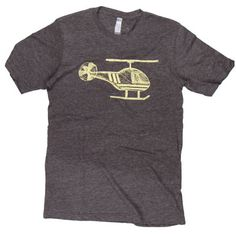Helicopter Sketch T-Shirt - For the pilot that understands that you don't need wings to fly, this super soft helicopter sketch will quickly become your favorite shirt.