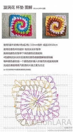 Transcendent Crochet a Solid Granny Square Ideas. Inconceivable Crochet a Solid Granny Square Ideas. Crochet Bedspread Pattern, Crochet Square Patterns, Crochet Motifs, Granny Square Crochet Pattern, Crochet Mandala, Crochet Diagram, Crochet Stitches Patterns, Freeform Crochet, Crochet Chart