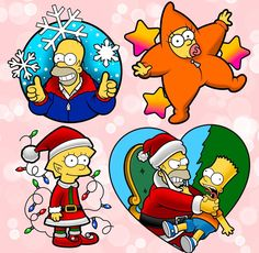The Simpsons - Christmas, Tattoo Designs Simpsons Tattoo, Simpsons Drawings, Simpsons Art, Simpson Tv, Homer Simpson, Christmas Shows, Christmas Art, Christmas Tattoo, Christmas Cartoons