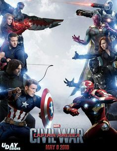 Captain_America_Civil_War_Online_Watch Captain America: Civil War is a superhero picture. supported the Marvel Comics character Captai. Marvel Civil War Poster, Avengers Civil War Movie, Civil War Movies, Captain America Civil War, Captain America Poster, Marvel Civil War Teams, Heros Comics, Marvel Comics, Marvel Heroes