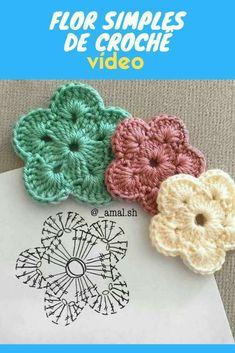 Crochet Motif Patterns, Crochet Diagram, Crochet Designs, Crochet Flower Tutorial, Crochet Instructions, Crochet Cross, Love Crochet, Crochet Butterfly, Crochet Flowers