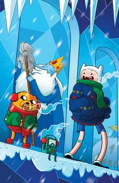 Ha ha what is the ice king doing with that mop?