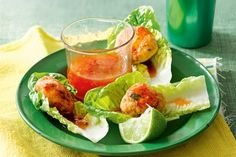 Wrap Thai chicken meatballs in little lettuce parcels for quick and easy finger food.