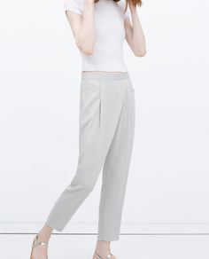 Image 3 of CREPE DRAPEY TROUSERS from Zara
