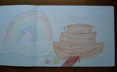 Waldorf ~ 3rd grade ~ Old Testament Stories ~ Noah and the Ark ~ Rainbow ~ main lesson book