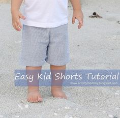 Elastic waist kids shorts and pants are SO easy to sew. Sometimes I wonder why I buy them from the store at all. I made this pair o...