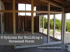 Want a screened porch? We explore six options for getting one on Front-Porch-Ideas-and-More.com #porch #screenedporch #buildaporch