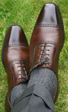 Shoes, well shined.