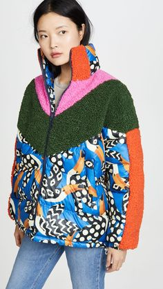 Find and compare Colorful Tucano Puffer Jacket across the world's largest fashion stores! Nyc Girl, Cotton Citizen, Farm Rio, Textiles, Shearling Coat, China Fashion, Puffer Jackets, Sweater Jacket, World Of Fashion