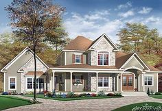Perfect Planning - 21482DR | Country, Farmhouse, Canadian, Metric, 1st Floor Master Suite, Bonus Room, CAD Available, PDF, Corner Lot | Architectural Designs
