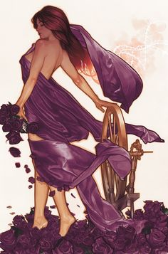 Fairest #6 - Cover by Adam Hughes.