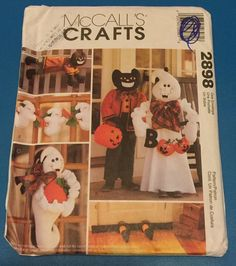 McCall's Crafts 2898 Halloween Decorations Sewing Pattern Greeters Ghost  #McCalls
