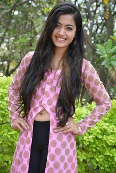 Best 12 Indian Hot Actress Rashmika Mandanna Long Hair Navel Hip Show In Violet Top – Tollywood Stars Beautiful Girl Photo, Cute Girl Photo, Beautiful Girl Indian, Most Beautiful Indian Actress, Beautiful Saree, Indian Actress Images, Indian Girls Images, My Princess, Hot Actresses
