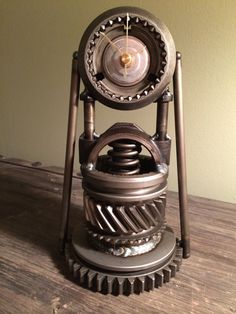 Hand crafted hot rod desk or mantle clock using repurposed engine/car parts. on Etsy, $145.00
