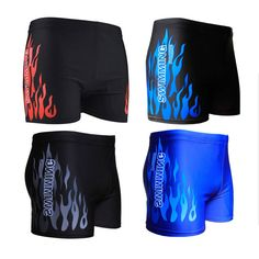 bb7192fa4cfc3 US $7.11 26% OFF|Aliexpress.com : Buy New Men Swimwear Energy Fire Burning  Mens Briefs Zwembroek Heren Swimming Suit Beach Wear Sunga Short De Bain  Homme 4 ...