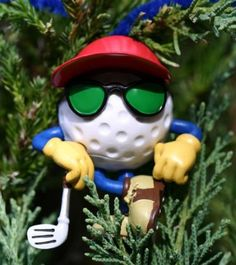 Dude Be The Ball Golf Character Ornament