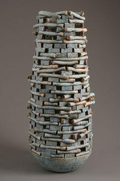 Blue - vase - ceramic - Jim Kraft