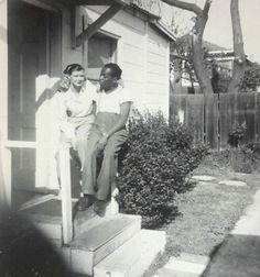 ILLYA, DARLING.  Vintage Old 1950's Photo Interracial Couple Affectionate White Woman Black Man.