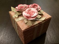 Spiral flower gift box Created by me~Jade Boteler