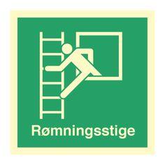 Rømningsstige med tekst - Bestil hos Denfoil.no Calm, Artwork, Work Of Art, Auguste Rodin Artwork, Artworks, Illustrators