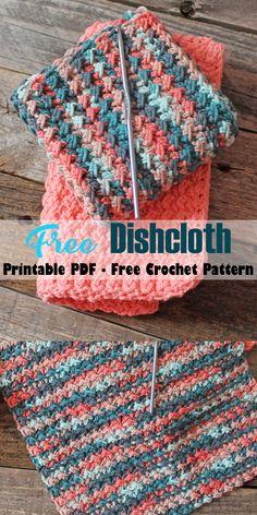 Crochet Scrubbies, Knit Dishcloth, Crochet Dishcloths Free Patterns, Crochet Potholders, Crochet Quilt Pattern, Afghan Crochet, Crochet Squares, Easy Crochet Patterns, Knitting Patterns
