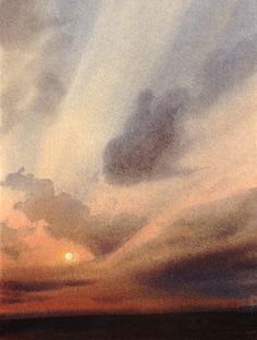 Sky above the moors. 2, an original watercolour painting by Rob Piercy