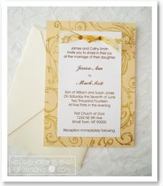 Looking for some easy homemade wedding invitation ideas? We will show you how to make your own wedding invitations fit any theme, season, or style of wedding. Homemade Wedding Invitations, Inexpensive Wedding Invitations, Country Wedding Invitations, Diy Invitations, Wedding Invitation Templates, Invitation Ideas, Handmade Invitation Cards, Invitations Online, Wedding Stationery