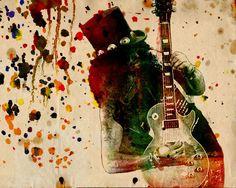 Slash Art Print, Guns n Roses