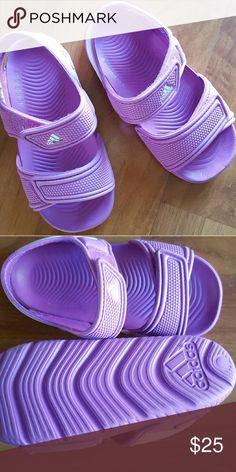 Adidas girls sandals Purple Adidas toddler girls sandals. Never worn. Adidas Shoes Sandals & Flip Flops